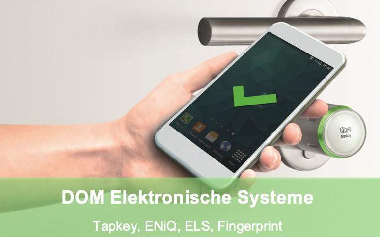 Elektronische Schliesssysteme von DOM, Tapkey, ENiQ und ELS