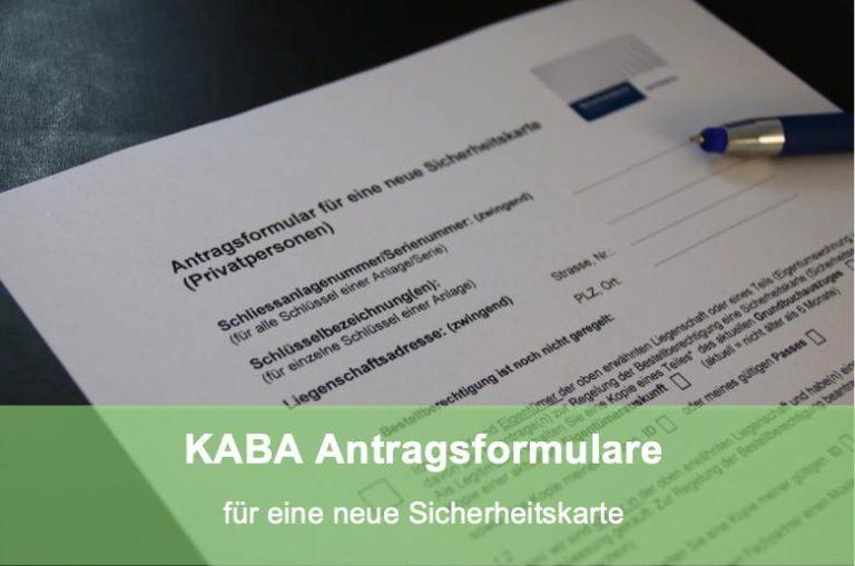 Antrag Sicherheitskarte KABA / dormakaba