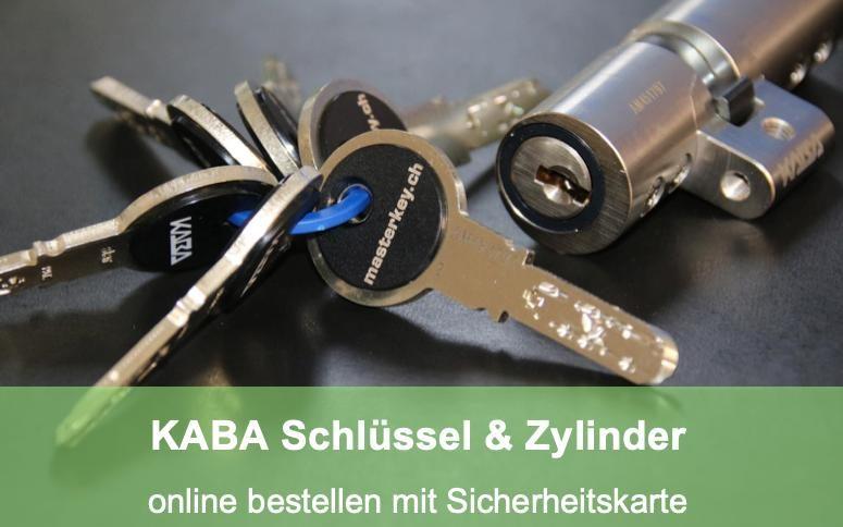Schlüsseldienst Zürich KABA Schlüssel Zylinder online nachbestellen mit Sicherheitskarte
