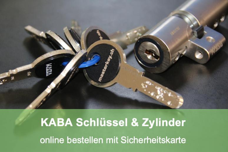 Schlüsseldienst Zürich Schlüssel oder Zylinder Bestellung KABA online