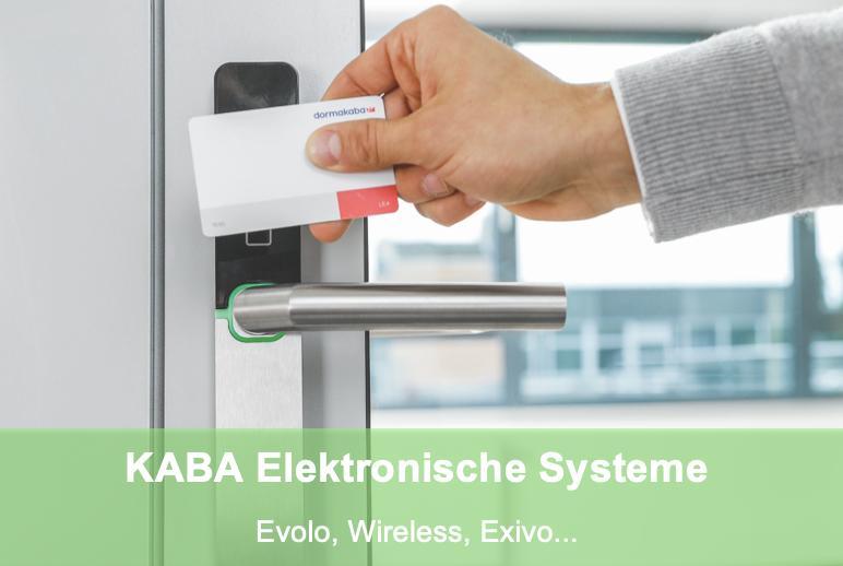 Elektronische Schliesssysteme von KABA bzw dormakaba: Evolo wireless und exivo